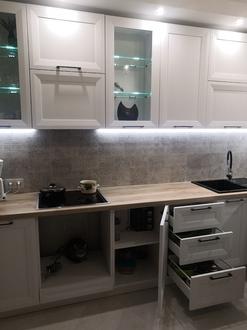 Кухня с полипропиленовым фасадом