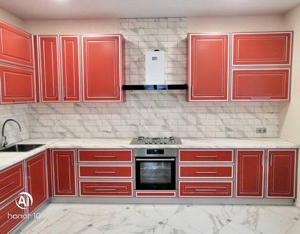 Кухня МДФ Серебряная патина